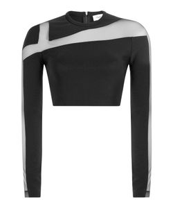 Mugler | Cropped Top With Sheer Insert Gr. 36