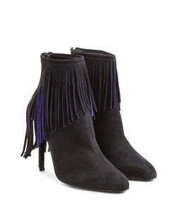 TAMARA MELLON | Suede Ankle Boots With Fringing Gr. 36