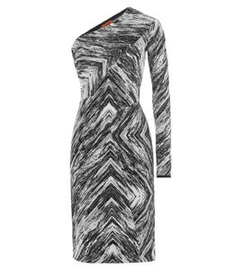 Missoni | Zigzag Print Wool One-Shoulder Dress Gr. 38