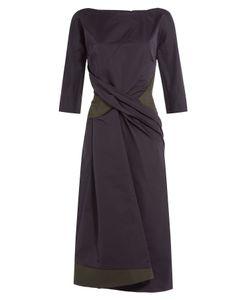Jil Sander | Draped Cocktail Dress Gr. 34
