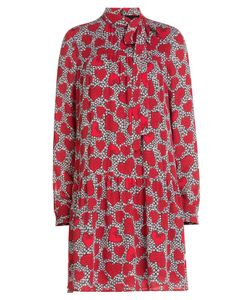 Valentino | Heart Printed Silk Dress Gr. 38