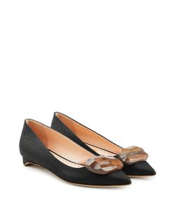 Rupert Sanderson | Kitten Heels With Wooden Pebble Accent Gr. It 37