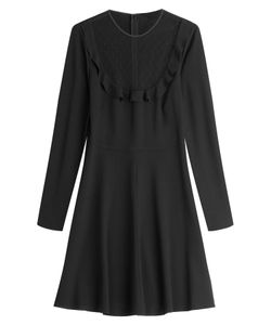 Red Valentino | Vrigin Wool Dress With Sheer Insert Gr. 38