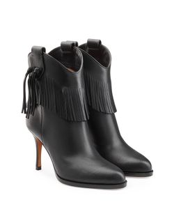 Valentino | Leather Boots With Fringe Gr. 36