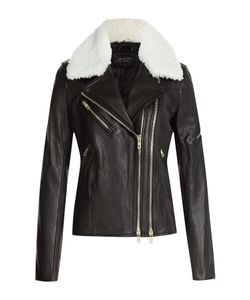 Rag & Bone | Leather Biker Jacket With Shearling Gr. 2
