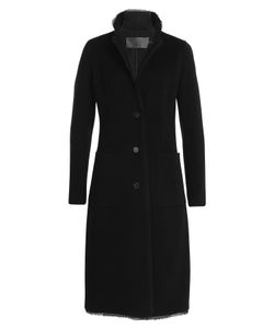 Donna Karan New York | Cashmere Coat With Silk Chiffon Hem Gr. Us 14
