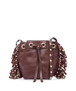 Vanessa Bruno | Leather Small Fringed Bucket Bag Gr. One Size