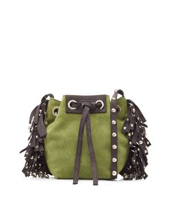 Vanessa Bruno | Leather-Suede Small Fringed Bucket Bag Gr. One Size
