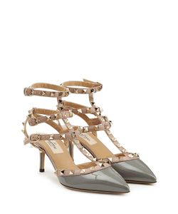 Valentino | Leather Rockstud Kitten Heels Gr. 40