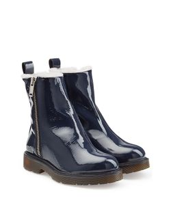 Mcq Alexander Mcqueen | Patent Leather Lined Combat Boots Gr. It 38