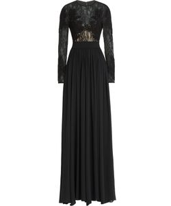 Elie Saab | Embroidered Floor Length Gown With Lace And Silk Gr. 36