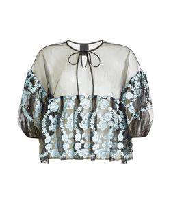 Anna Sui | Sheer Blouse With Embroidery Gr. S