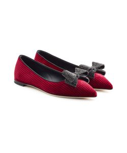 Giuseppe Zanotti Design | Velvet Ballerinas With Bow Detail Gr. It 39