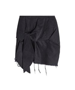 Marques Almeida   Frayed And Knotted Cotton Mini Skirt Gr. Uk 12