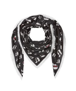 Karl Lagerfeld | K/Ikonik Printed Scarf With Cashmere Gr. One Size