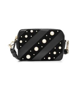 Karl Lagerfeld | Leather Shoulder Bag With Faux Pearl Embellishment Gr. One Size