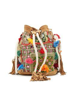 Christophe Sauvat | Embellished Shoulder Bag With Suede Gr. One
