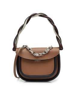 Marni | Leather Shoulder Bag With Chain Embellishment Gr. One Size