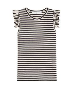 Golden Goose | Striped Sleeveless Top With Ruffles Gr. S