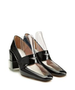 Maison Margiela | Patent Leather Pumps With Transparent Detail Gr. 38
