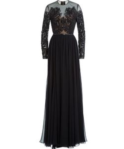 Elie Saab | Embellished Silk Floor-Length Evening Gown Gr. 36