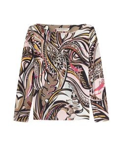 Emilio Pucci | Printed Jersey Top With Silk Gr. 38