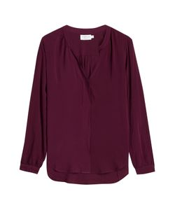 Velvet | V Neck Blouse With Asymmetric Hem Gr. S