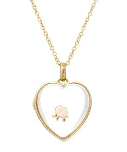 Loquet | 14kt Heart Locket With 18kt Gold Charm Gr. One Size