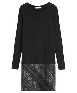 Bailey 44   Sweater Dress With Faux Leather Gr. M
