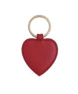Smythson | Heart Leather Keychain Gr. One Size