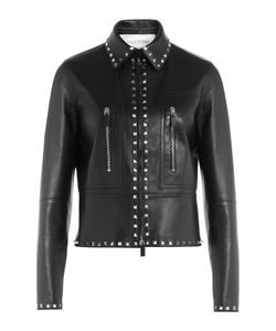 Valentino | Embellished Leather Jacket Gr. 38