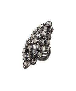 Alexis Bittar | Ruthenium Ring With Swarovski Crystals Gr. 7