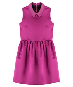 Mcq Alexander Mcqueen | Satin Dress With Embellished Collar Gr. 38