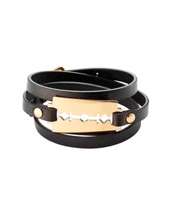 Mcq Alexander Mcqueen | Leather Bracelet With Razor Blade Motif Gr. One Size