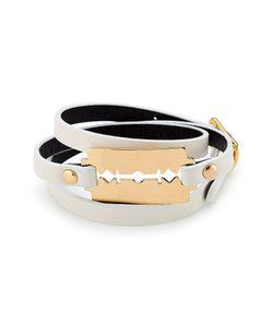 Mcq Alexander Mcqueen | Leather Bracelet With Razor Blade Motif Gr. One Size