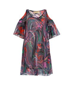 Emilio Pucci | Printed Cotton Dress With Cutout Shoulders Gr. 40
