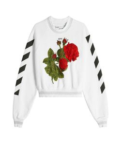Off White | Embroide And Printed Cropped Sweatshirt Gr. L