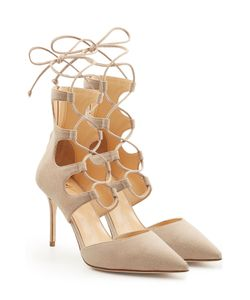 Giuseppe Zanotti Design | Lace-Up Suede Pumps Gr. 36