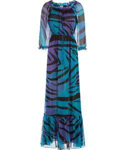 Diane Von Furstenberg   Printed Silk Chiffon Maxi Dress Gr. 8