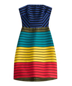 Mary Katrantzou | Striped Bandeau Dress With Silk Gr. 8