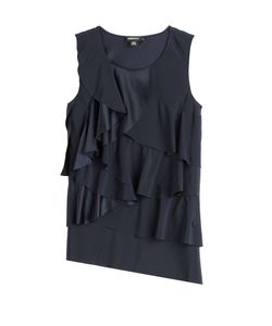 DKNY | Ruffled Silk Top Gr. S