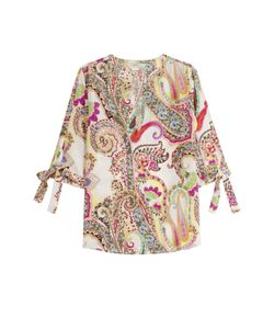 Etro | Printed Silk Blouse With Bow Cuffs Gr. 38