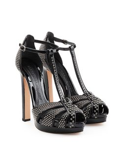 Alexander McQueen | Embellished Leather Platform Sandals Gr. 36