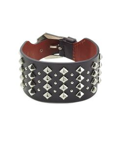 Alexander McQueen | Embellished Leather Cuff Gr. One Size