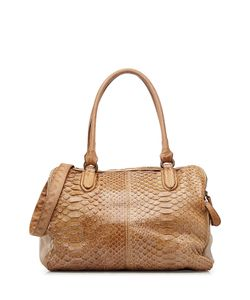 Reptiles House | Python Leather Tote Gr. One Size