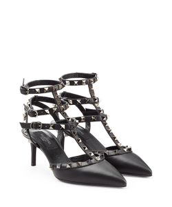 Valentino | Rockstud Patent Leather Kitten Heel Pumps Gr. 36