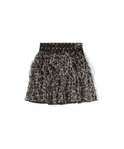 Just Cavalli | Ruffled Animal Print Mini Skirt With Stud Trim Gr. 38