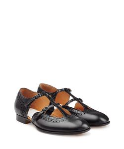 Maison Margiela | Leather Double Strap Mary-Janes Gr. It 38