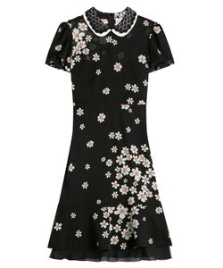 Red Valentino | Floral Print Silk Dress Gr. 38