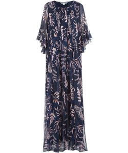 Diane Von Furstenberg | Printed Silk Maxi Dress Gr. L